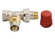 """Клапан терморегулирующий радиаторный, Danfoss RA-N 013G0012, Ду10, 3/8"""", прямой никелированный (для двухтрубной системы)"""