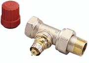 """Клапан терморегулирующий радиаторный, Danfoss RA-N 013G0016 (013G7016), Ду20, 3/4"""", прямой никелированный (для двухтрубной системы)"""
