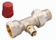 """Клапан терморегулирующий радиаторный, Danfoss RA-N 013G0038 (013G7018), Ду25, 1"""", прямой никелированный (для двухтрубной системы)"""