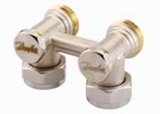 Клапан Danfoss RLV-KB угловой 3/4x3/4, артикул 003L0397, для нижнего подключения радиаторов