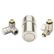 """Терморегулирующий комплект RTX set Danfoss для полотенцесушителей, артикул 013G4138, 1/2"""", нержавеющая сталь, для подключения терморегулятора справа, запорного клапана слева"""