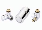 """Терморегулирующий комплект X-tra Danfoss для полотенцесушителей, артикул 013G4003, 1/2"""", хромированный, правый"""