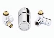"Терморегулирующий комплект X-tra Danfoss для полотенцесушителей, артикул 013G4004, 1/2"", хромированный, левый"