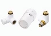 """Терморегулирующий комплект X-tra Danfoss для полотенцесушителей, артикул 013G4007, 1/2"""", холодный белый, правый"""
