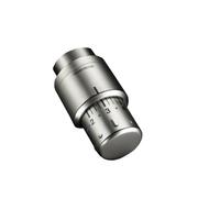 Термостатическая головка Oventrop Uni SH, артикул 1012085, матовая сталь, 7-28 С, с нулевой отметкой
