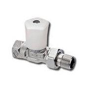 """Heimeier Ручной радиаторный клапан Mikrotherm, DN32(1 1/4""""), проходной, бронза никелированная, 0122-05.500"""
