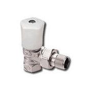 """Heimeier Ручной радиаторный клапан Mikrotherm, DN15(1/2""""), угловой, бронза никелированная, 0121-02.500"""