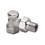 """Heimeier Радиаторный запорно-регулирующий клапан REGUTEC, DN20(3/4""""), угловой, никелированная бронза, 0355-03.000"""