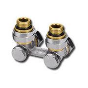 """Heimeier Клапан для нижнего подключения VEKOTEC, для двухтрубной системы, Rp 1/2"""", угловой, никел бронза, 0551-50.000"""