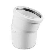 Отвод REHAU RAUPIANO PLUS диам. 110 на 15°, для канализационных труб, арт. 11234241001