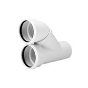 Отвод параллельный REHAU RAUPIANO PLUS, для канализационных труб 110/110, арт. 11205641003