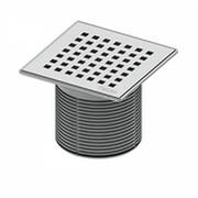 """Декоративная решетка """"quadratum"""" TECEdrainpoint S 100 мм с монтажным элементом, 366 00 07"""