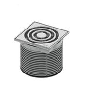 Декоративная решетка TECEdrainpoint S 100 мм в стальной рамке с монтажным элементом, 366 00 02