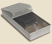 Внутрипольный конвектор PrimoClima PCM125-2500, решетка анодированный натуральный алюминий