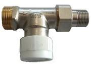 """Вентиль (термостатический клапан) Oventrop AV6 с преднастройкой прямой Ду15 3/4""""х1/2"""", артикул 1183897"""