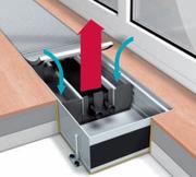 Конвектор встраиваемый в пол с вентилятором Mohlenhoff QSK EC 360-110-1000