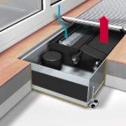 Конвектор встраиваемый в пол с вентилятором Мohlenhoff QSK EC HK 2L 320-140-2150