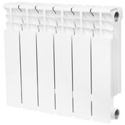 Радиатор биметаллический STOUT Space 350 6 секции, боковое подключение, SRB-0310-035006