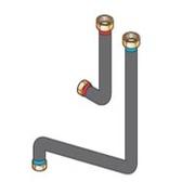 Соединительные трубопроводы De Dietrich ЕА100 «котел-гидравлический модуль» для подключения по центру, 89997060