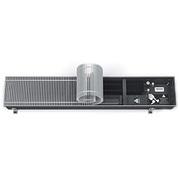 Встраиваемый в пол конвектор с вентилятором VARMANN Qtherm 230.110.3000, решетка анодированная (серебристая)